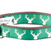 Pet Pooch Boutique - Country Stag On Lush Green Collar