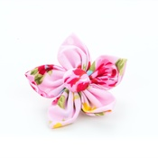 Pet Pooch Boutique - Pink Vintage Flower Collar Accessory