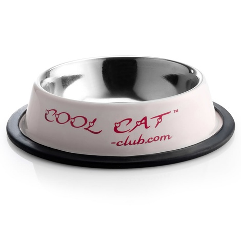 Cool Cat Sip & Snack Water & Food Cat Bowl in Pink 2