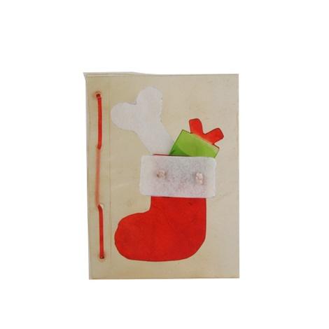 Rawhide Christmas Stocking Card