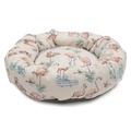 Flamingo Linen Donut Dog Bed 2