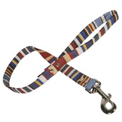 Creature Clothes - Blue Deckchair Stripe Fabric Dog Lead