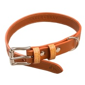 Baker & Bray - Chelsea Leather Dog Collar – Caramel & Tan