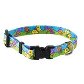 Yellow Dog - Butterflies Dog Collar
