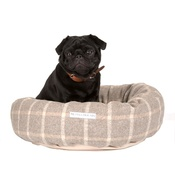 Mutts & Hounds - Slate Tweed Donut Bed