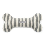 Mutts & Hounds - Flint Stripe Brushed Cotton Squeaky Bone Toy