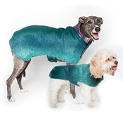 PetsPyjamas - Luxury Green Mohair Dog Coat