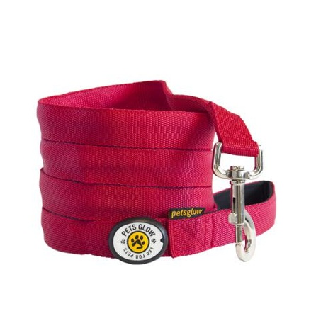 Outshined LED Dog Lead - Red 2