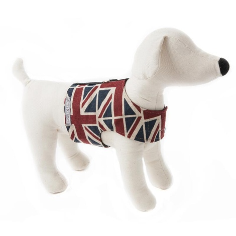 Union Jack Linen Dog Harness 2