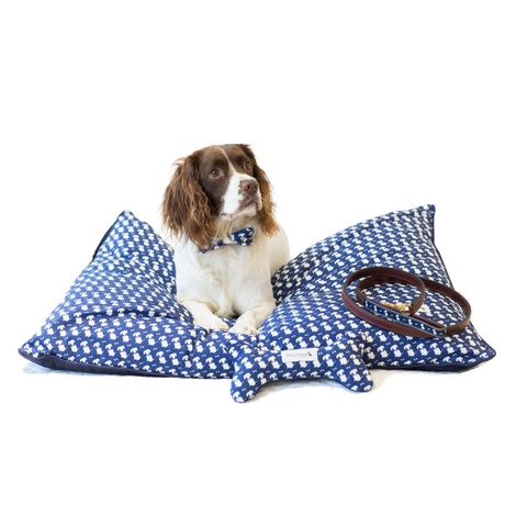 Teddy Maximus Navy Luxury Lounging Dog Bed Cushion
