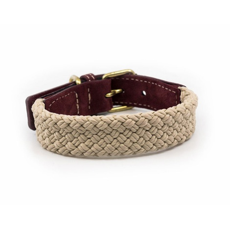 Rope collar (flat) - Burgundy 2