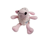 Hem & Boo - Plush Curly Lamb Puppy Squeaky Toy - Pink