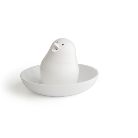 Bird-Shaped Salt and Pepper Shaker - White