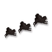 Pugs Might Fly - Set of 3 Flying Pugs - Black