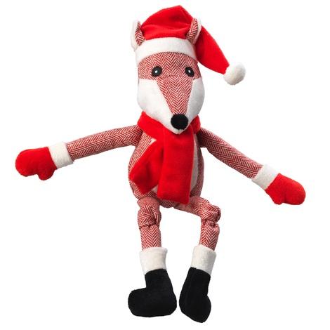 Tweed Fox Plush Dog Toy