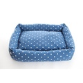 Dotty Denim Lounge Dog Bed 3