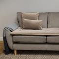 Lustre Velvet Sofa Topper - Taupe