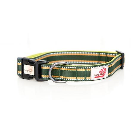 Comfort Padded Dog Collar – Green