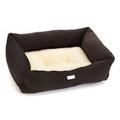 Chocolate Crinkle Sherpa Dog Bed