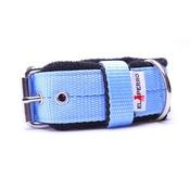 El Perro - 4cm width Fleece Comfort Dog Collar - Baby Blue