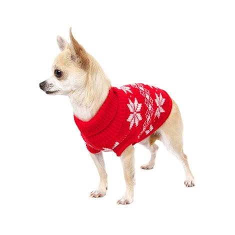 Red Snowflake Dog Sweater