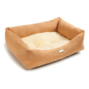 Copper Suede Sherpa Dog Bed