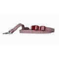 Red & Cream Stripe Dog Collar 2
