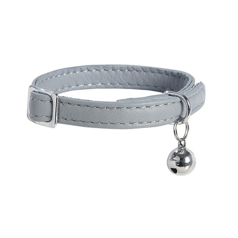 Large Escapade Leather Cat Collar – Grey