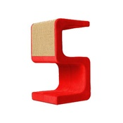 Catworks - Scratching Post - Letter S - Red