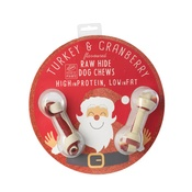 House of Paws - Bauble with Dog Bone - Turkey Cranberry