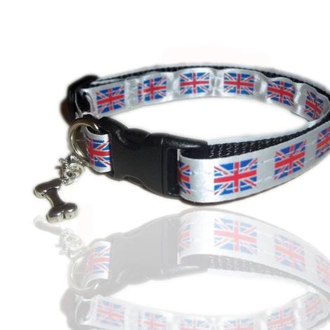 UK British Union Small Dog Puppy Charm Collar