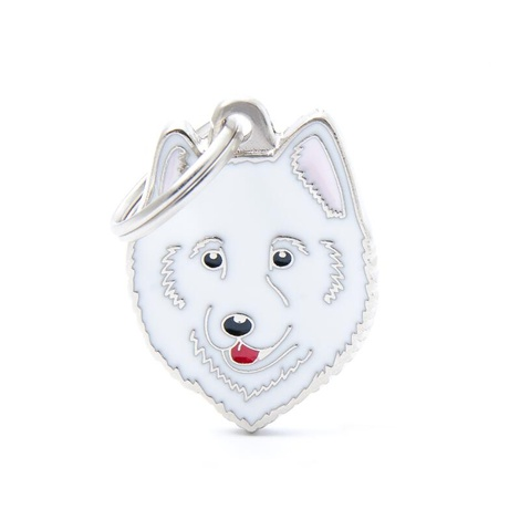 Samoyed Engraved ID Tag