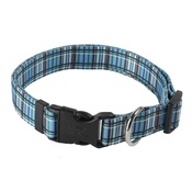 Yellow Dog - Tartan Plaid Dog Collar – Blue