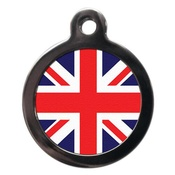 PS Pet Tags - Union Flag Pet ID Tag