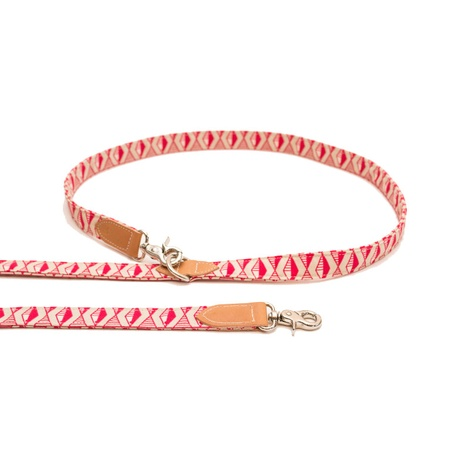 Pink Geo Hands-free Dog Lead