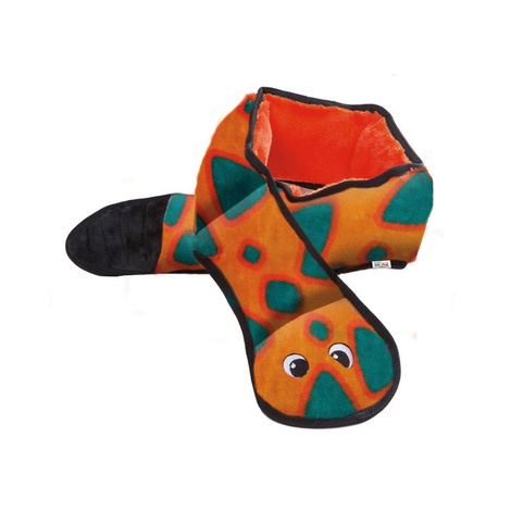 Invincibles Dog Toy – Orange Snake 2