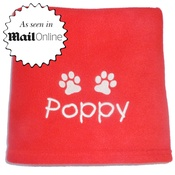 My Posh Paws - Personalised Santa Paws Pet Blanket