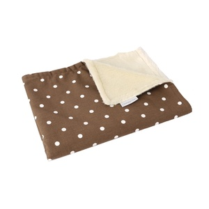 Faux-Fur Fleece Comforters - Dotty Chocolate