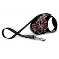 Flexi Glam Retractable Dog Lead – Black Butterfly