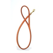 Pear Tannery - Handmade Rolled Leather Dog Lead in Tan