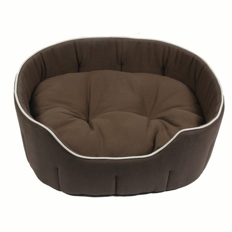 Kudos Kingston Oval Pet Bed in Olive