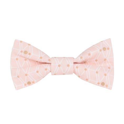 Pink Geo Print Bow Tie