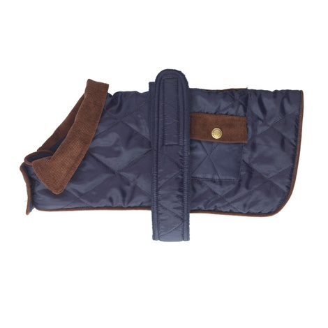 Quilted Country Dog Coat – Navy