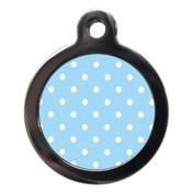 PS Pet Tags - Polka Dot Pet ID Tag - Blue