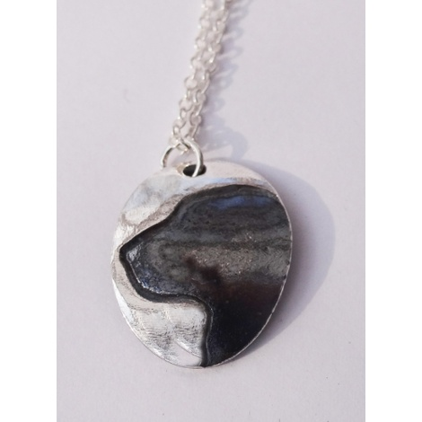 Silver Labrador Cameo Necklace 2