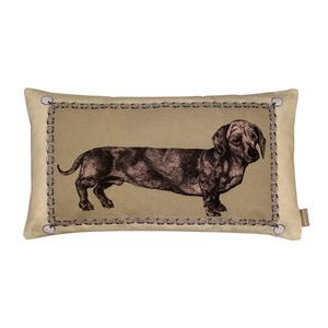 Dahshund Mink Baguette Cushion