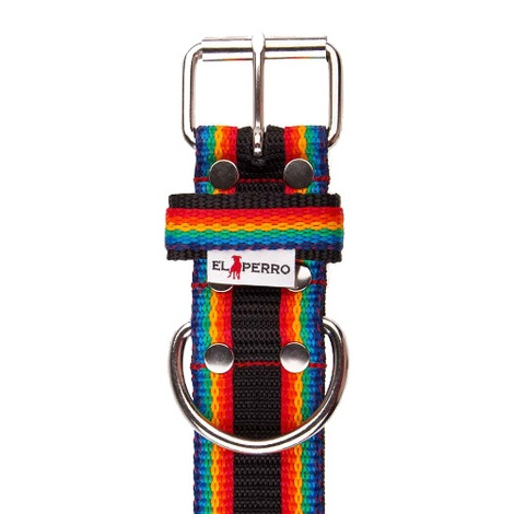 Juicy Strip Dog Collar - Rainbow 2