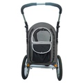 Sporty Black/Grey Buggy and Trailer 2