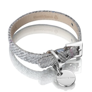 Harris Tweed Collar – Silver Grey