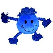 Multi Pet - Happy Face Plush Dog Toy – Blue